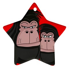 Gorillas Ornament (star)  by Valentinaart