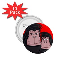 Gorillas 1 75  Buttons (10 Pack) by Valentinaart