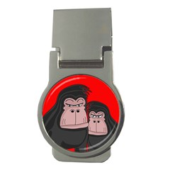 Gorillas Money Clips (round)  by Valentinaart