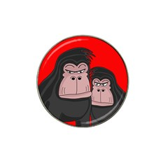 Gorillas Hat Clip Ball Marker by Valentinaart