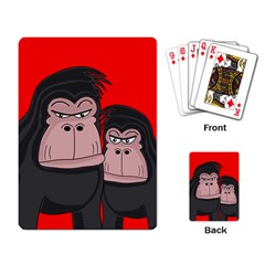 Gorillas Playing Card by Valentinaart