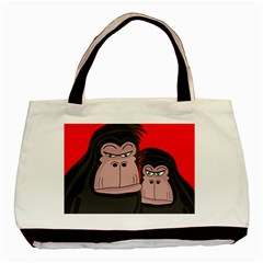 Gorillas Basic Tote Bag (two Sides) by Valentinaart