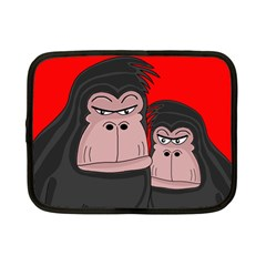 Gorillas Netbook Case (small)  by Valentinaart