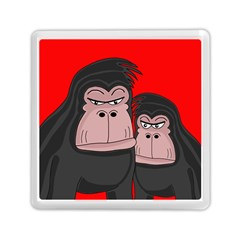 Gorillas Memory Card Reader (square)  by Valentinaart