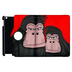 Gorillas Apple Ipad 2 Flip 360 Case by Valentinaart
