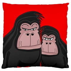 Gorillas Standard Flano Cushion Case (two Sides) by Valentinaart