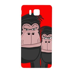 Gorillas Samsung Galaxy Alpha Hardshell Back Case by Valentinaart
