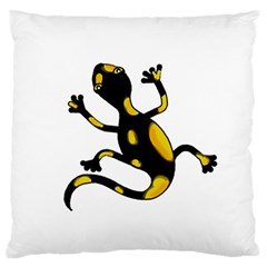 Lizard Large Flano Cushion Case (one Side) by Valentinaart