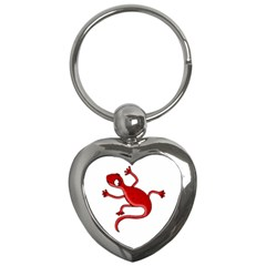 Red Lizard Key Chains (heart)