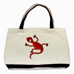 Red Lizard Basic Tote Bag by Valentinaart