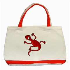 Red Lizard Classic Tote Bag (red) by Valentinaart