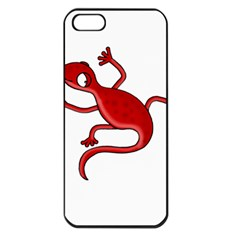 Red Lizard Apple Iphone 5 Seamless Case (black) by Valentinaart