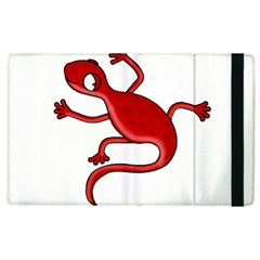Red Lizard Apple Ipad 3/4 Flip Case by Valentinaart