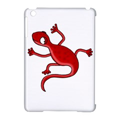 Red Lizard Apple Ipad Mini Hardshell Case (compatible With Smart Cover) by Valentinaart
