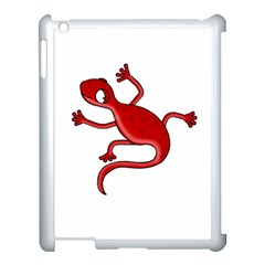 Red Lizard Apple Ipad 3/4 Case (white) by Valentinaart