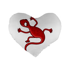 Red Lizard Standard 16  Premium Heart Shape Cushions by Valentinaart