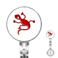 Red Lizard Stainless Steel Nurses Watch by Valentinaart