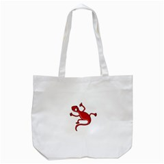 Red Lizard Tote Bag (white) by Valentinaart