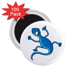 Blue Lizard 2 25  Magnets (100 Pack)  by Valentinaart