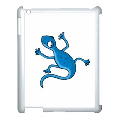 Blue Lizard Apple Ipad 3/4 Case (white) by Valentinaart