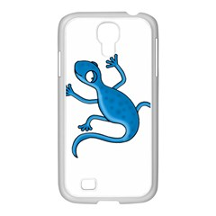 Blue Lizard Samsung Galaxy S4 I9500/ I9505 Case (white) by Valentinaart