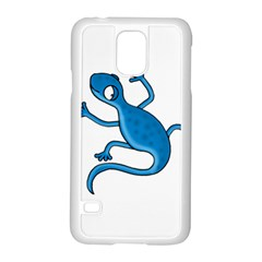 Blue Lizard Samsung Galaxy S5 Case (white) by Valentinaart