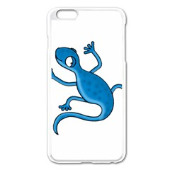 Blue Lizard Apple Iphone 6 Plus/6s Plus Enamel White Case by Valentinaart