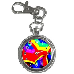 Umbrella Color Red Yellow Green Blue Purple Key Chain Watches
