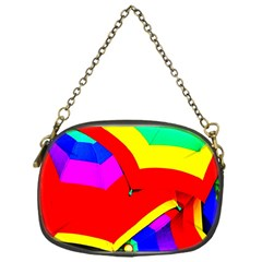 Umbrella Color Red Yellow Green Blue Purple Chain Purses (one Side)  by AnjaniArt