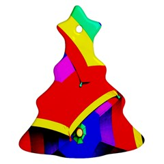 Umbrella Color Red Yellow Green Blue Purple Christmas Tree Ornament (2 Sides) by AnjaniArt