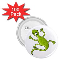 Green Lizard 1 75  Buttons (100 Pack)  by Valentinaart