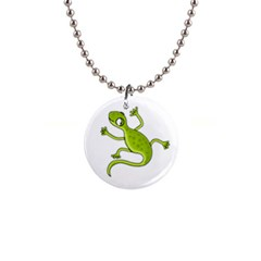 Green Lizard Button Necklaces by Valentinaart