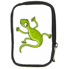 Green Lizard Compact Camera Cases by Valentinaart