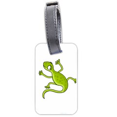 Green Lizard Luggage Tags (two Sides) by Valentinaart