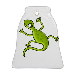 Green Lizard Bell Ornament (2 Sides) by Valentinaart