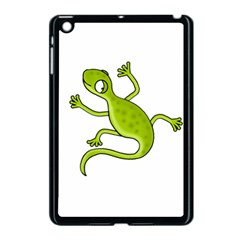 Green Lizard Apple Ipad Mini Case (black) by Valentinaart