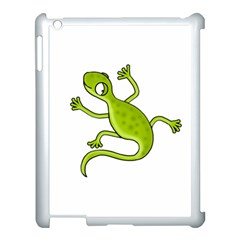 Green Lizard Apple Ipad 3/4 Case (white) by Valentinaart