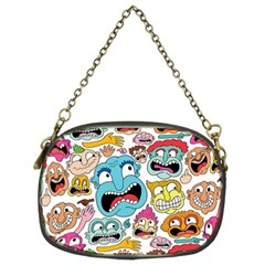 Weird Faces Pattern Chain Purses (two Sides)