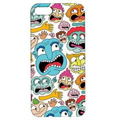 Weird Faces Pattern Apple Iphone 5 Hardshell Case With Stand by AnjaniArt