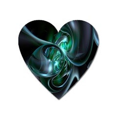 Ws Blue Green Float Heart Magnet