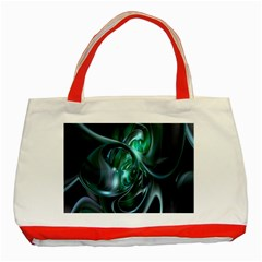 Ws Blue Green Float Classic Tote Bag (red) by AnjaniArt