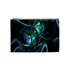 Ws Blue Green Float Cosmetic Bag (medium)  by AnjaniArt