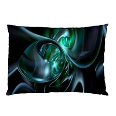 Ws Blue Green Float Pillow Case (two Sides) by AnjaniArt