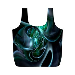 Ws Blue Green Float Full Print Recycle Bags (m)  by AnjaniArt