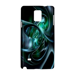 Ws Blue Green Float Samsung Galaxy Note 4 Hardshell Case by AnjaniArt