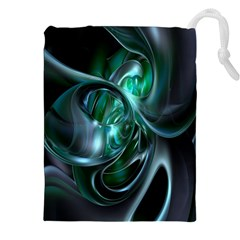 Ws Blue Green Float Drawstring Pouches (xxl) by AnjaniArt