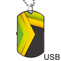 Your Resolution Dog Tag Usb Flash (one Side) by AnjaniArt