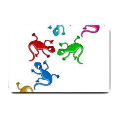Colorful Lizards Small Doormat