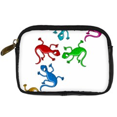 Colorful Lizards Digital Camera Cases by Valentinaart