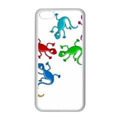 Colorful Lizards Apple Iphone 5c Seamless Case (white) by Valentinaart